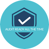 Audit ready shield illustration